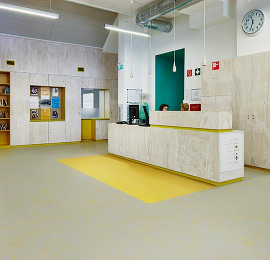 Marmoleum Concrete yellow glow
