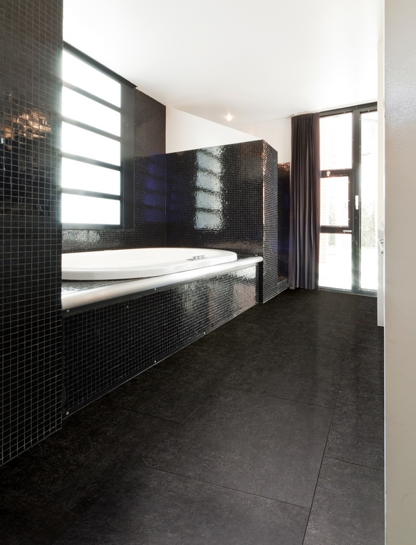 Pvc click Rigid Core Tile 8801 Natural Stone Black